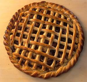 открытый пирог с клюквой