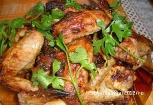 тушенный цыпленок с чесноком